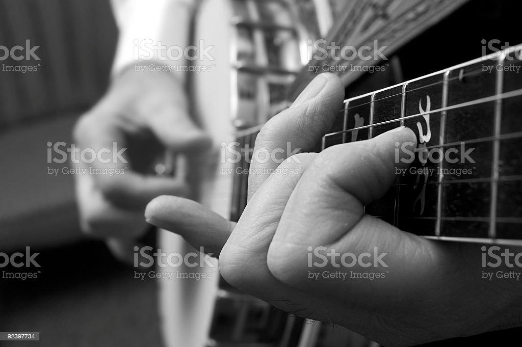 banjo picking stock photo