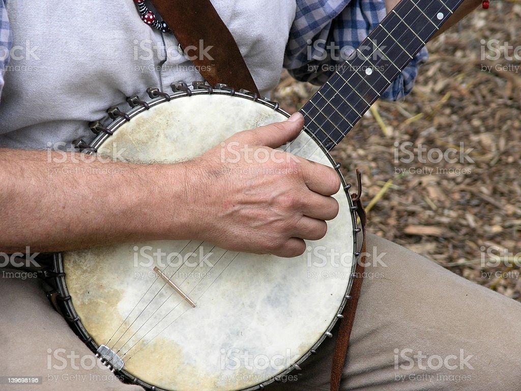 Banjo Player royalty-free stock photo
