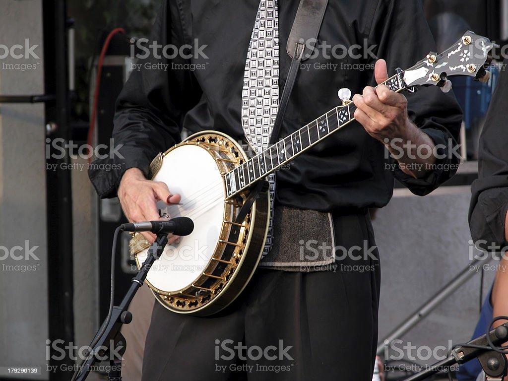 Banjo Player stock photo