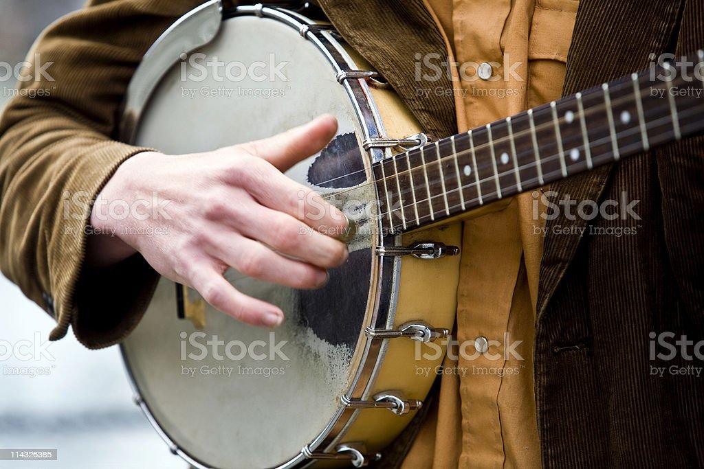 Banjo Strum stock photo
