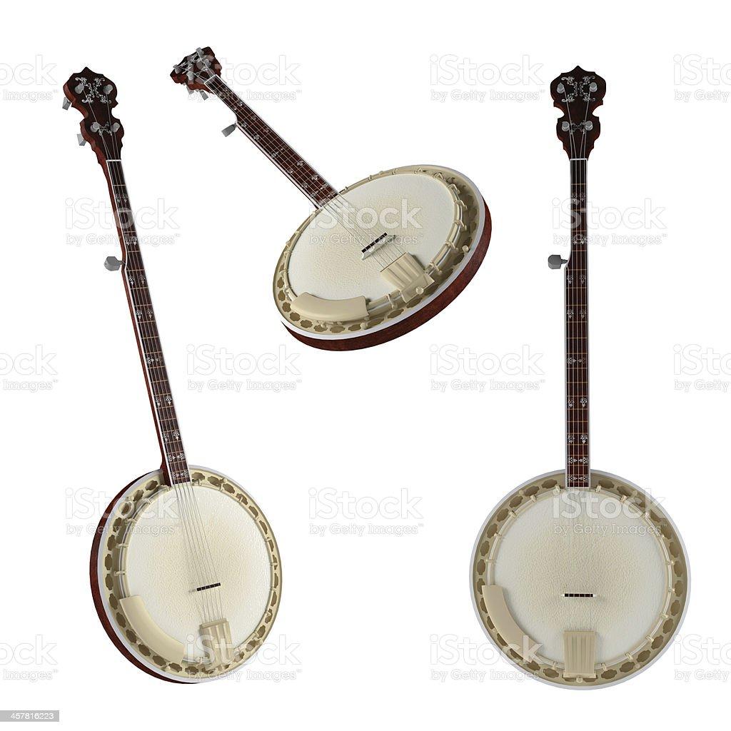 Banjo. Traditional Vietnam musical Instrument. stock photo