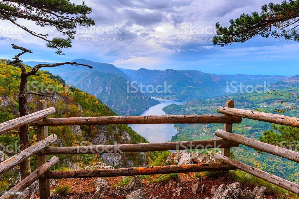 Banjska stena viewpoint at Tara National Park, Serbia stock photo