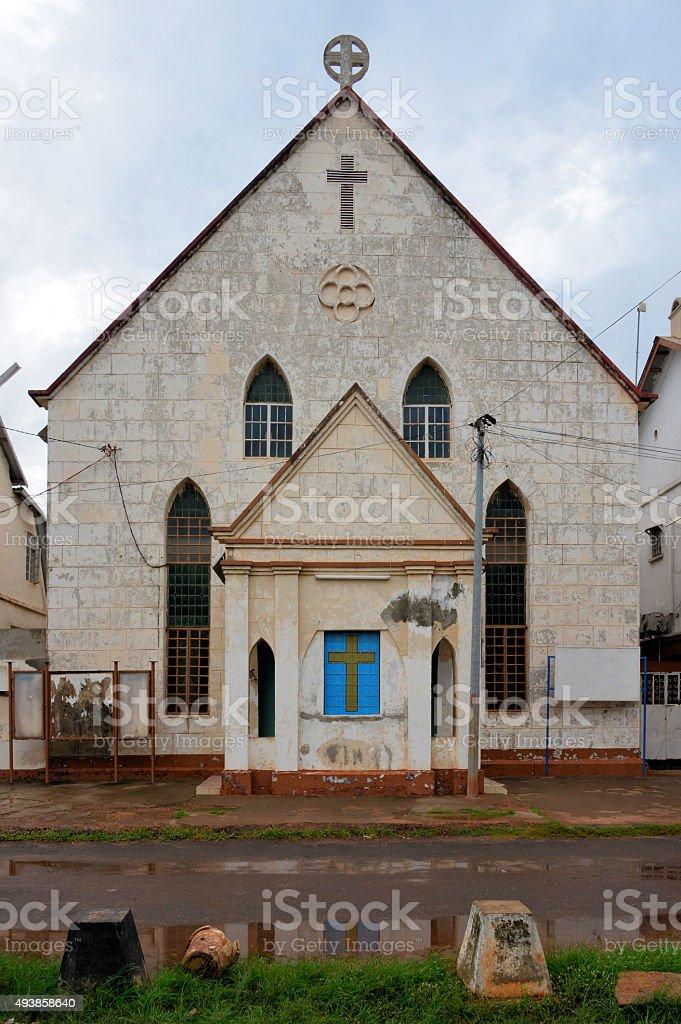 Banjul Wesley Cathedral, Gambia stock photo