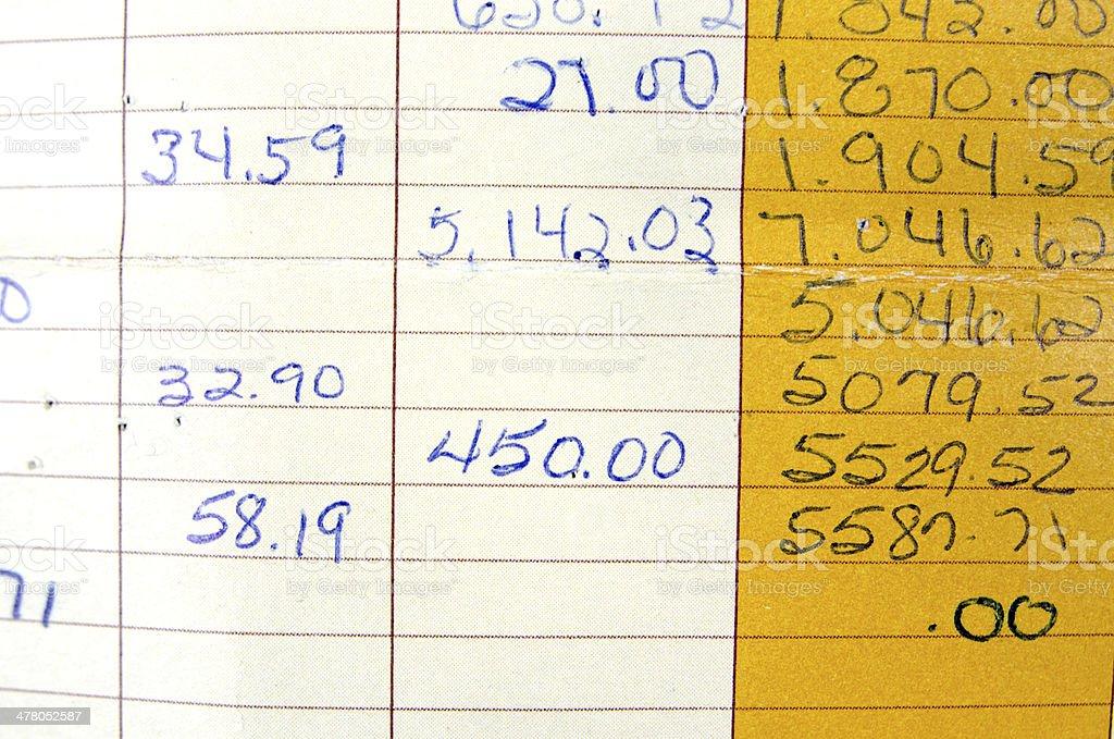 Bank Account Book stock photo