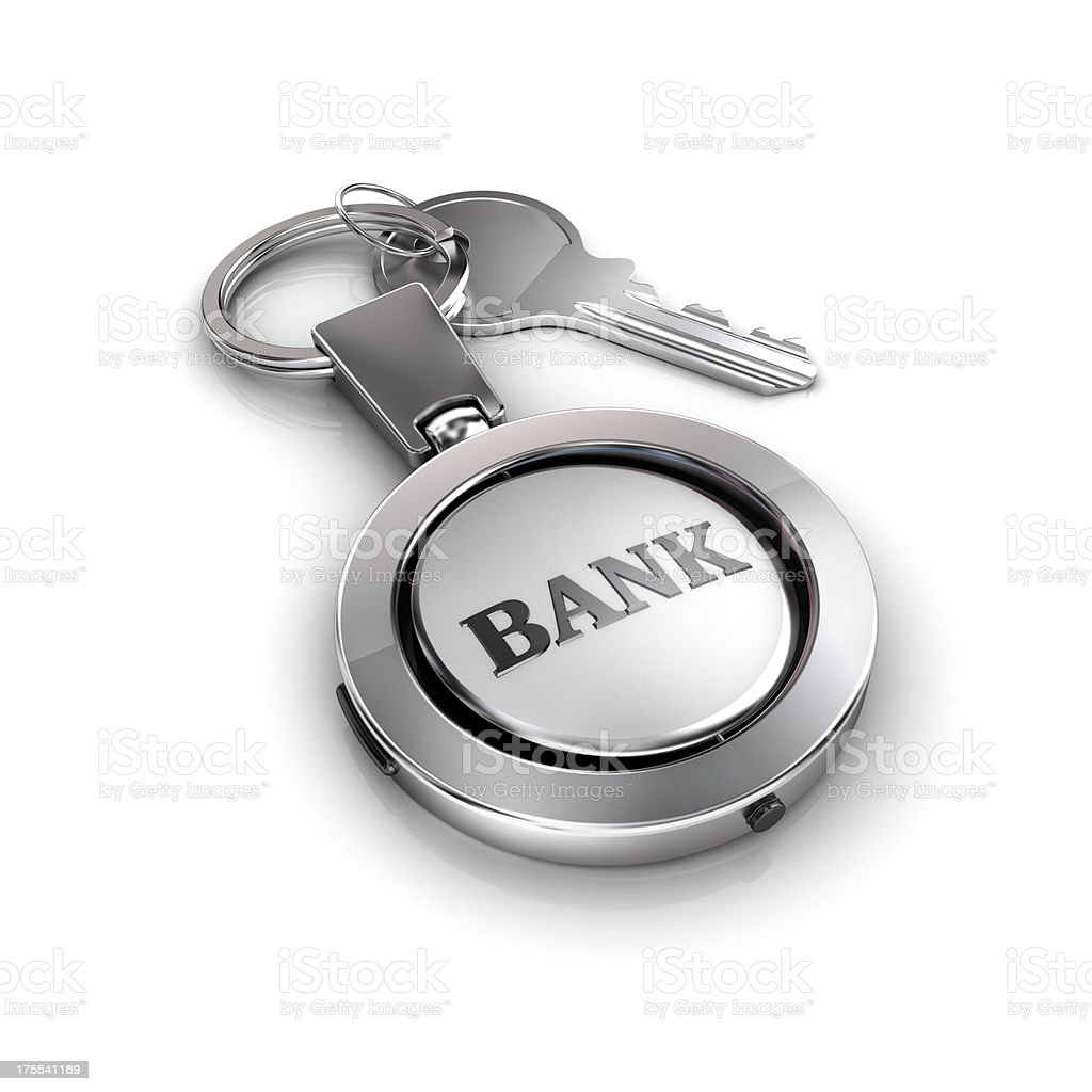 bank account security key royalty-free stock photo