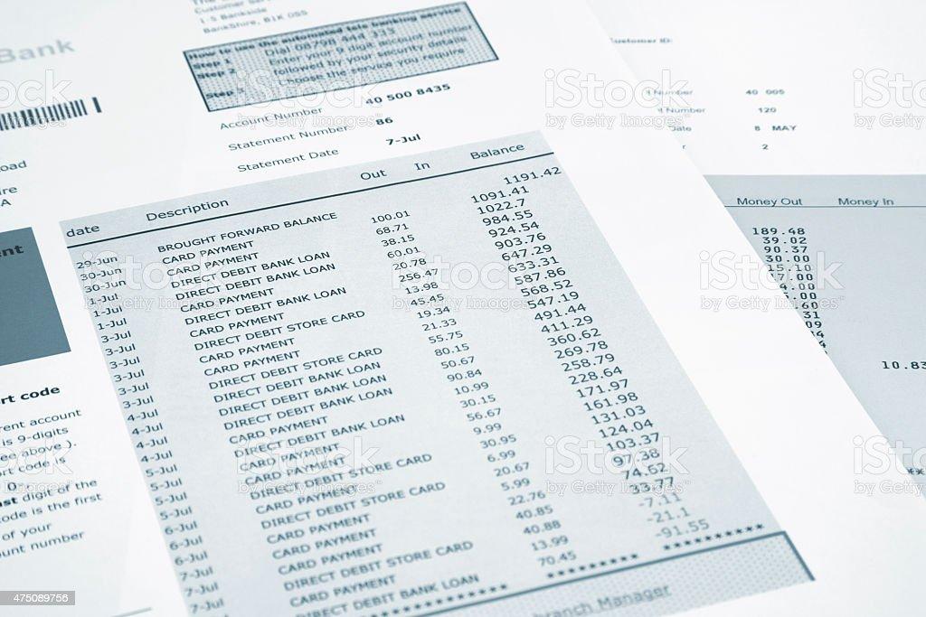 Bank and credit card stock photo