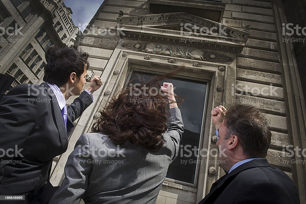 bank anger stock photo