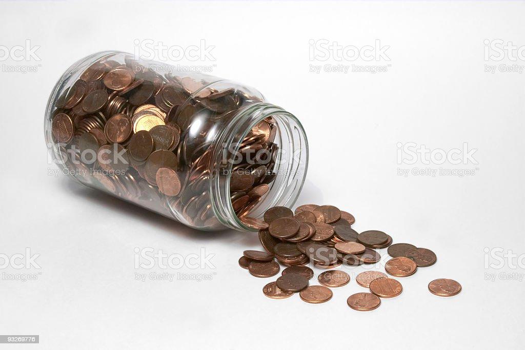Bank At Home ( Penny Jar ) royalty-free stock photo