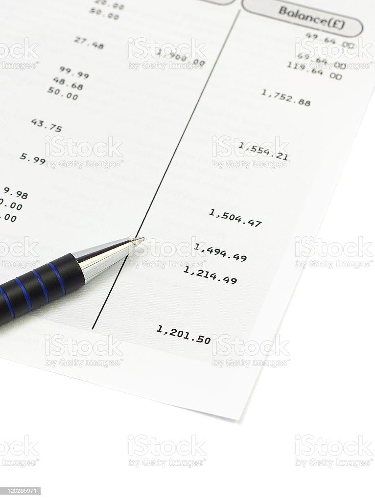 Bank balance royalty-free stock photo