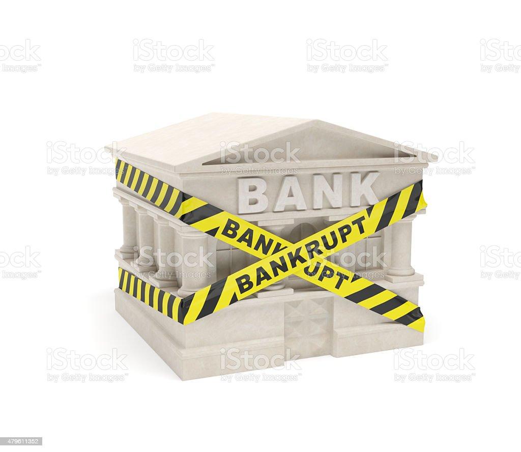 Bank bankrupt stock photo