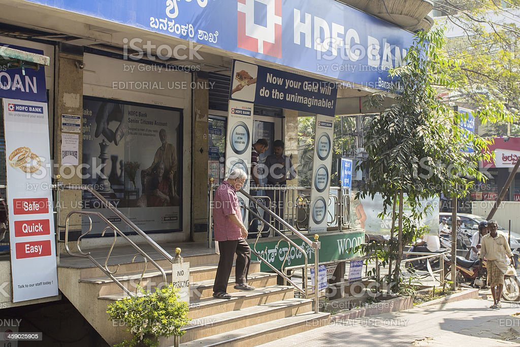 HDFC Bank branch in Bangalore stock photo