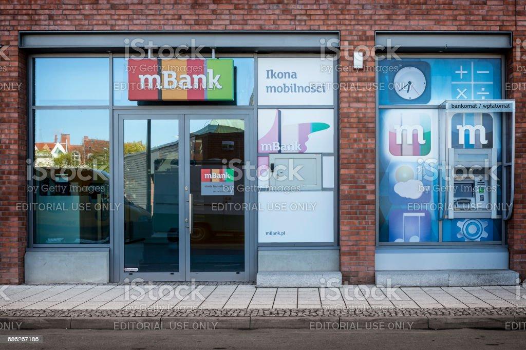 M Bank branch in Szczecin, Poland stock photo