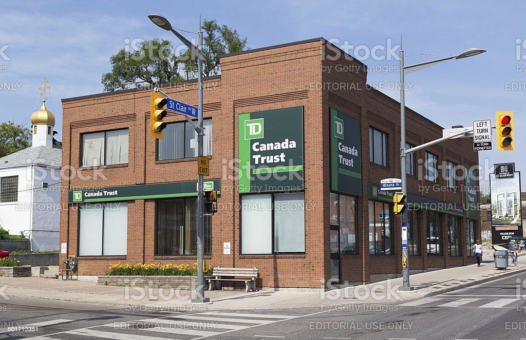 TD Bank Branch stock photo