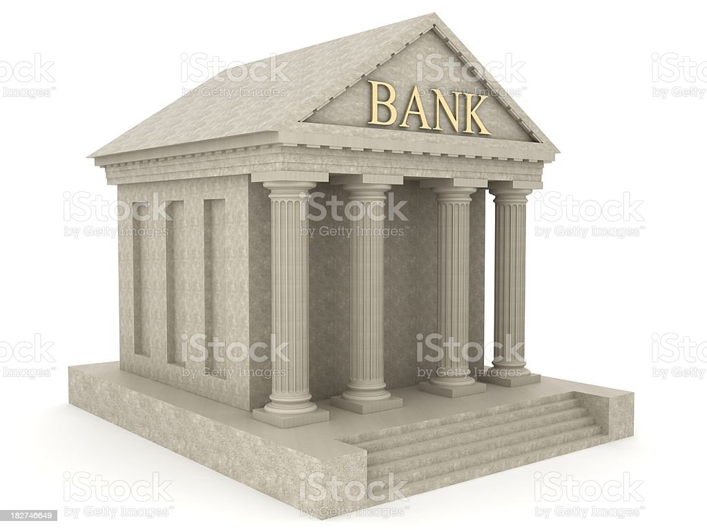 Bank Building royalty-free stock photo