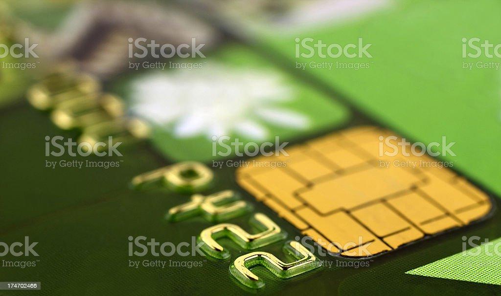 Bank card close up royalty-free stock photo