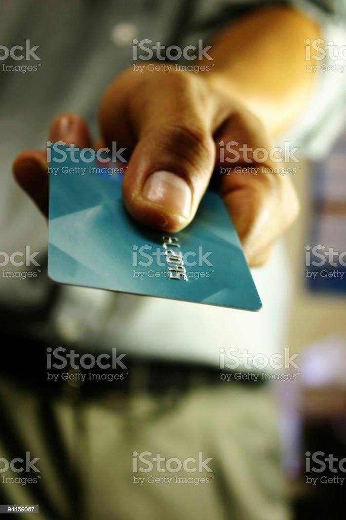 Bank Card - Close Up royalty-free stock photo