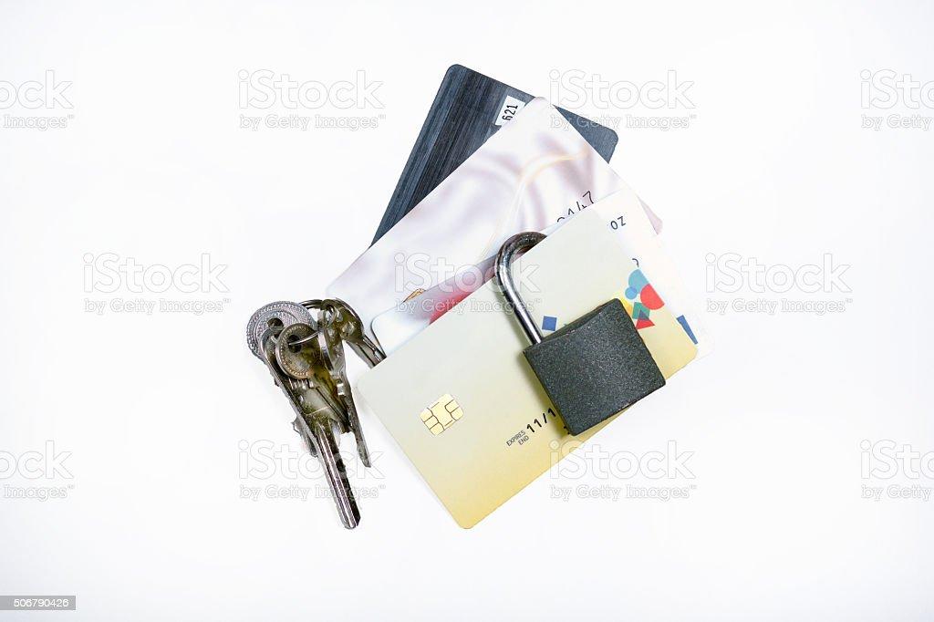 Bank card fraud stock photo