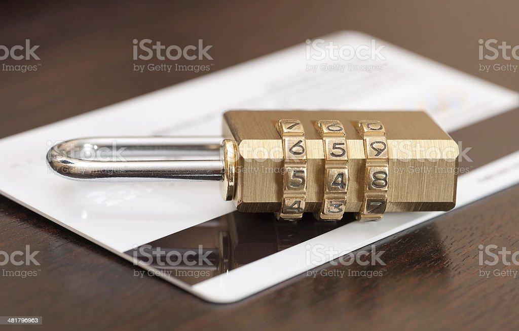 Bank Card Security stock photo