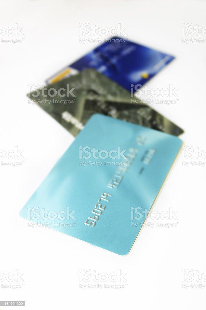 Bank Cards - closeup royalty-free stock photo