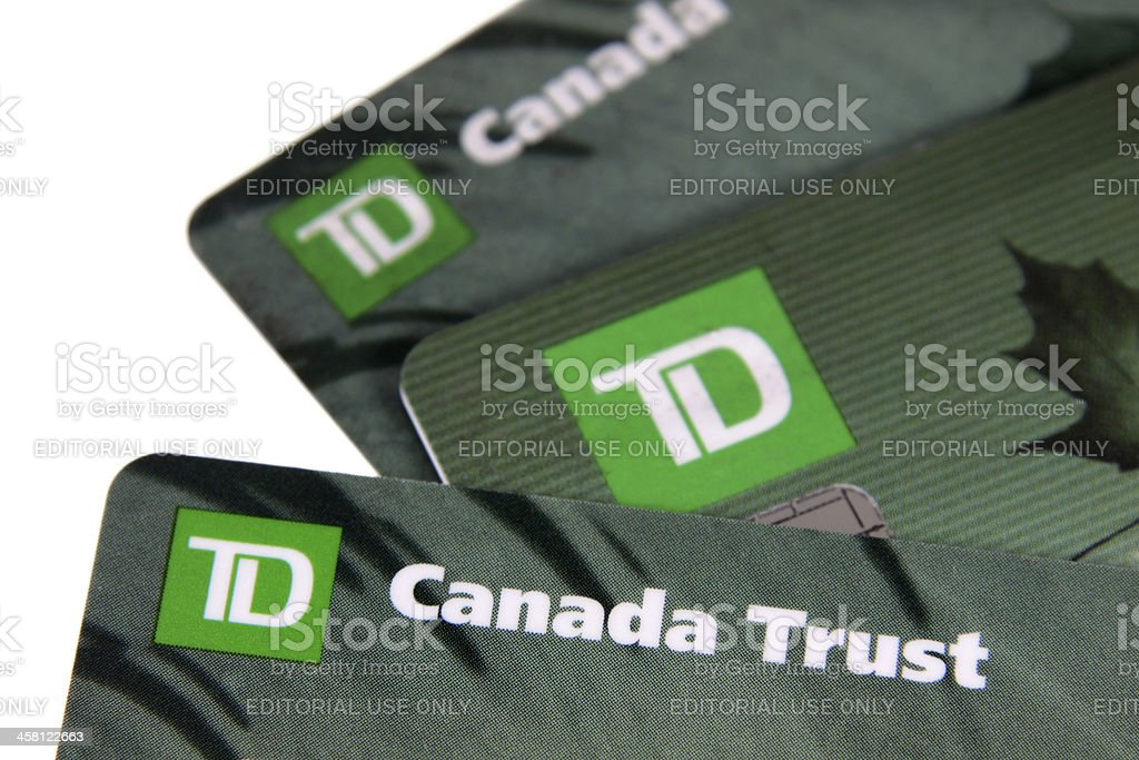 TD Bank Cards stock photo