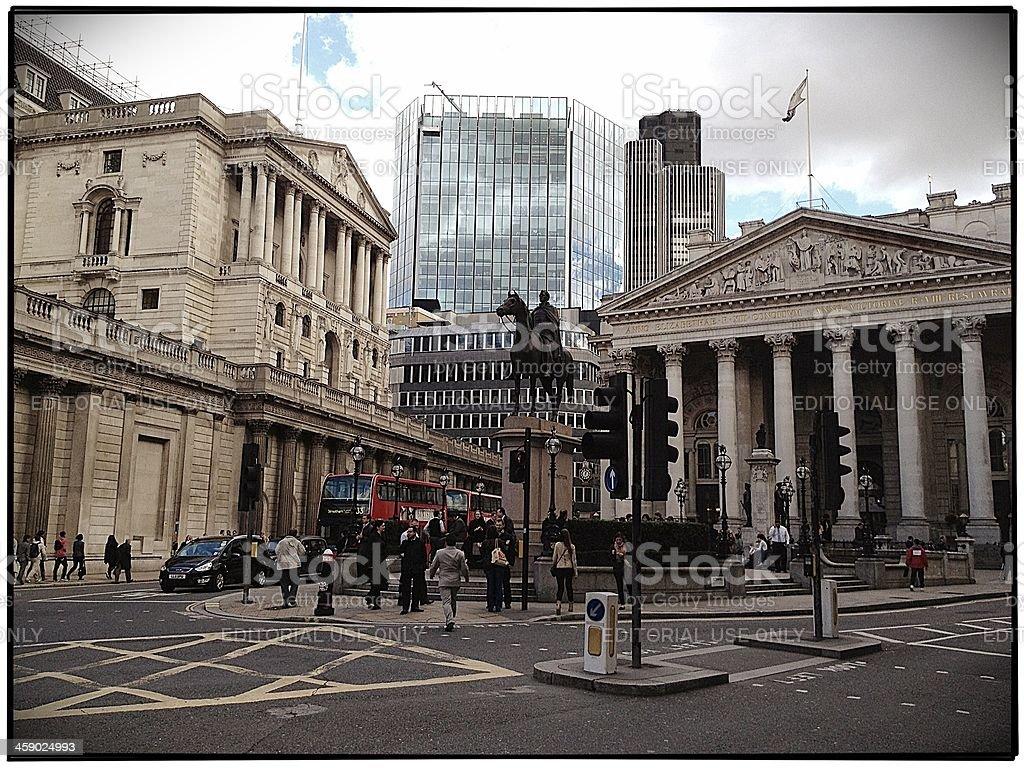 Bank, City of London royalty-free stock photo