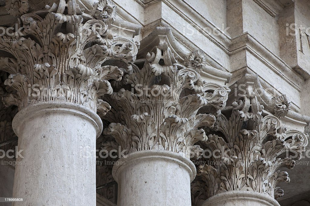 Bank Column royalty-free stock photo