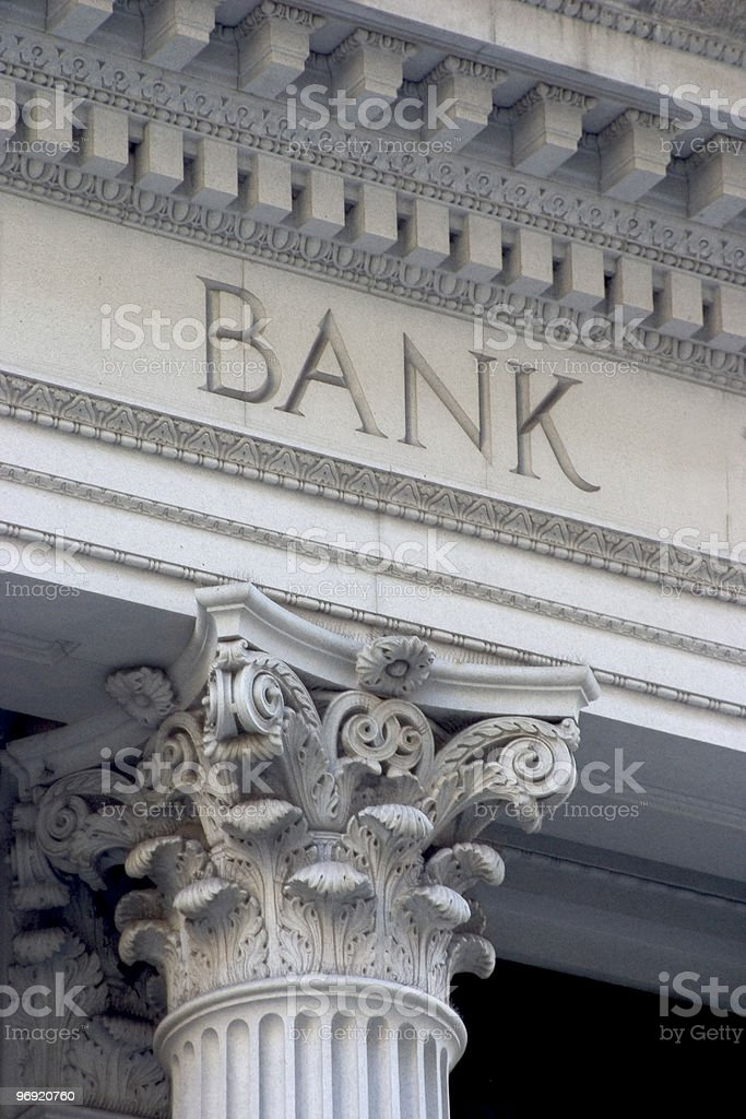 Bank Column stock photo