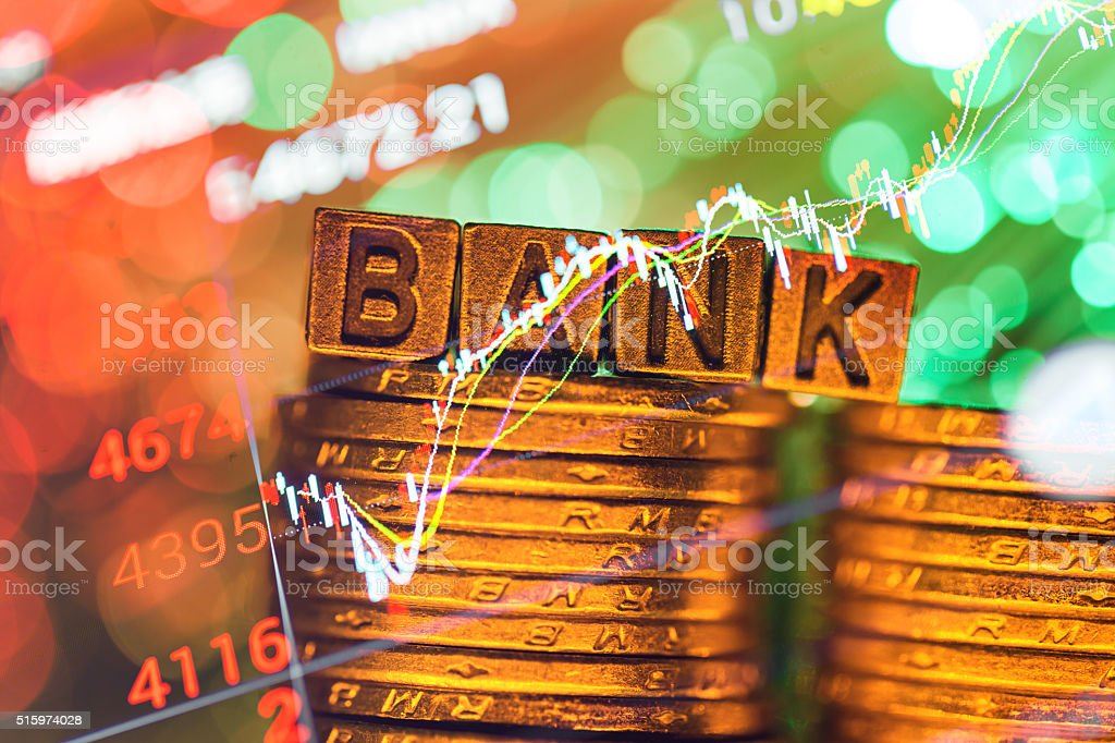 bank copper alphabet stock photo