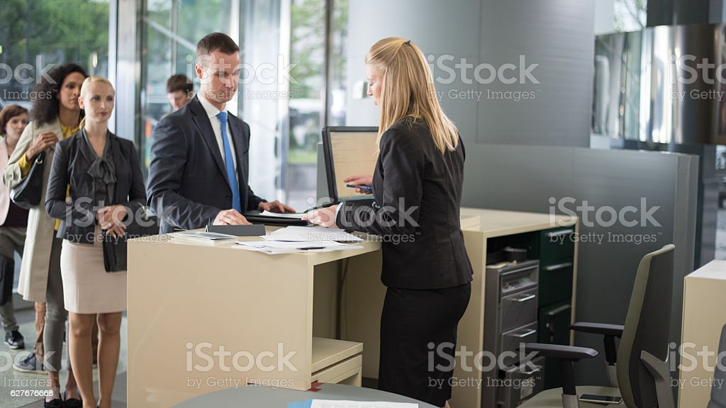 Bank Counter stock photo