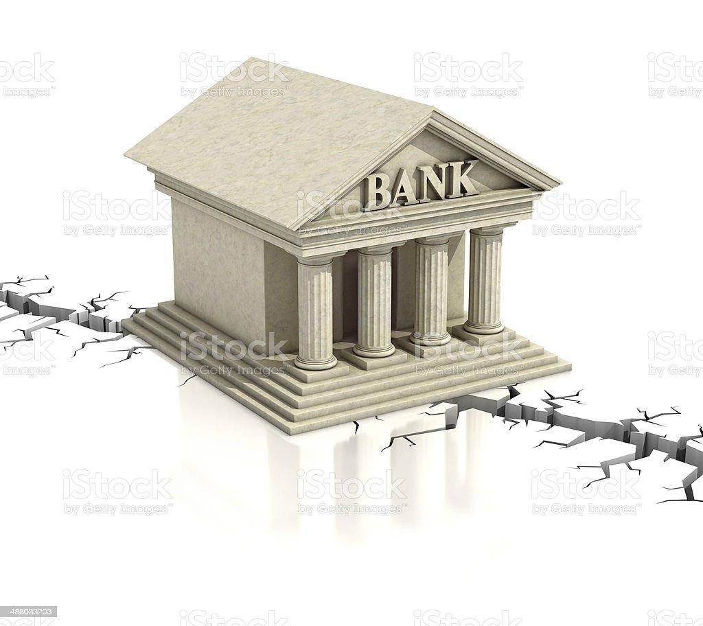 bank crisis 3d concept stock photo