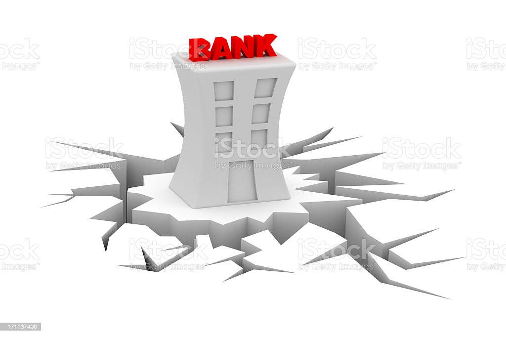 bank crisis stock photo