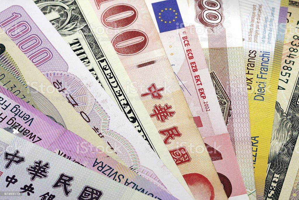 Bank currencies stock photo