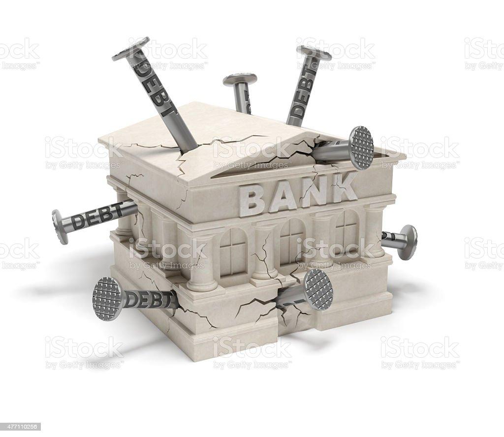 Bank debts stock photo