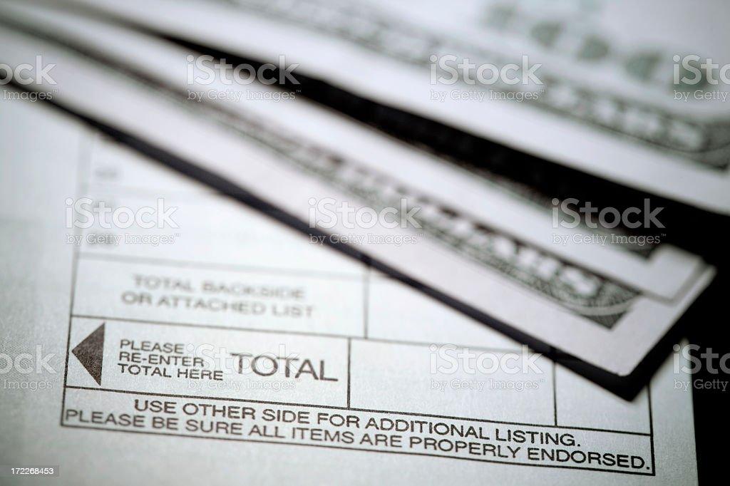 Bank Deposit royalty-free stock photo