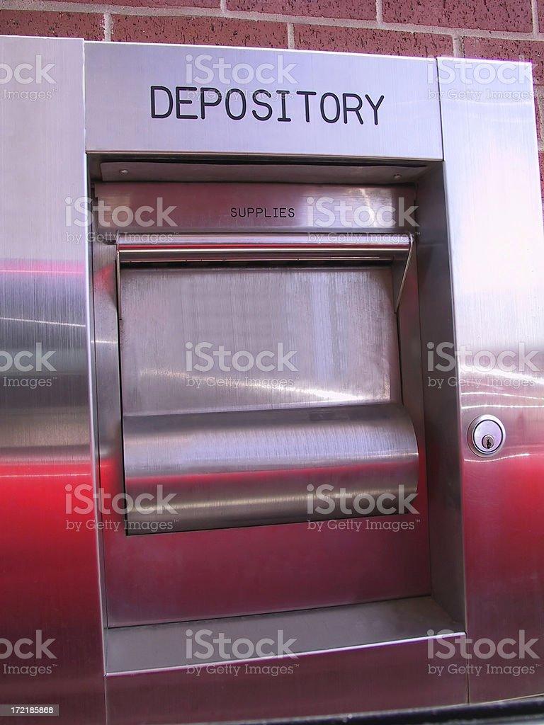 Bank Depository stock photo