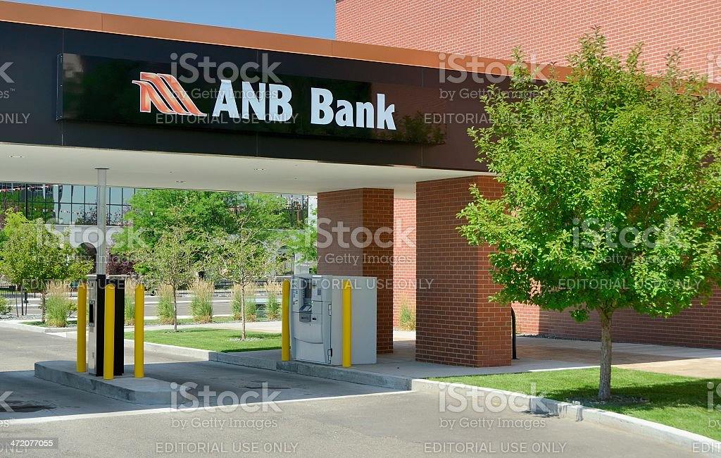 ANB Bank in downtown Cheyenne stock photo