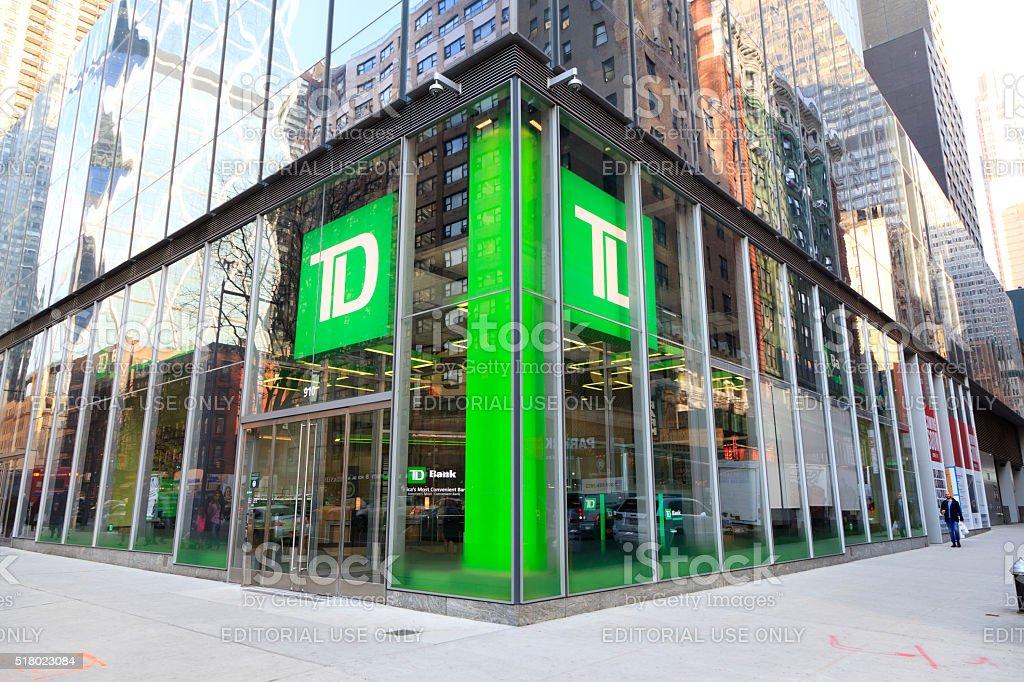 TD Bank in Manhattan stock photo