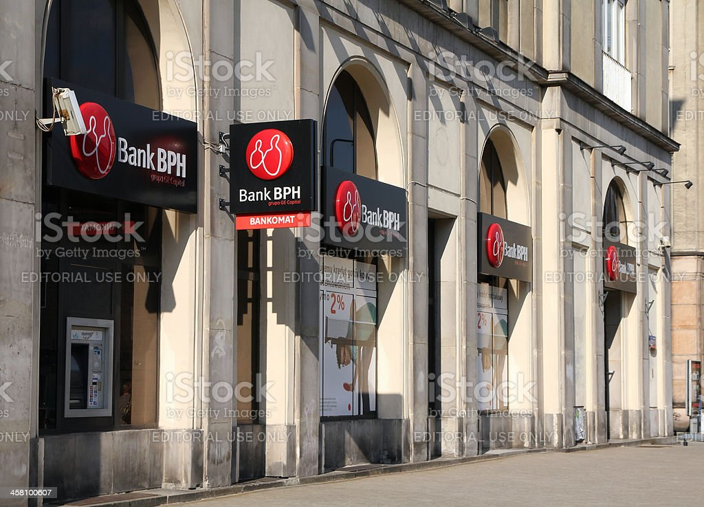 Bank in Poland stock photo