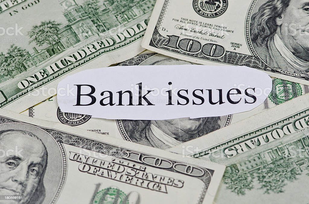 Bank Issues royalty-free stock photo
