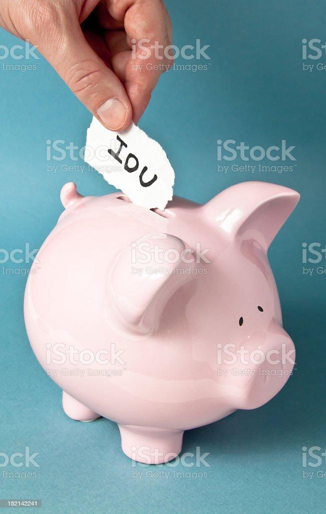 I.O.U. Bank Loan stock photo