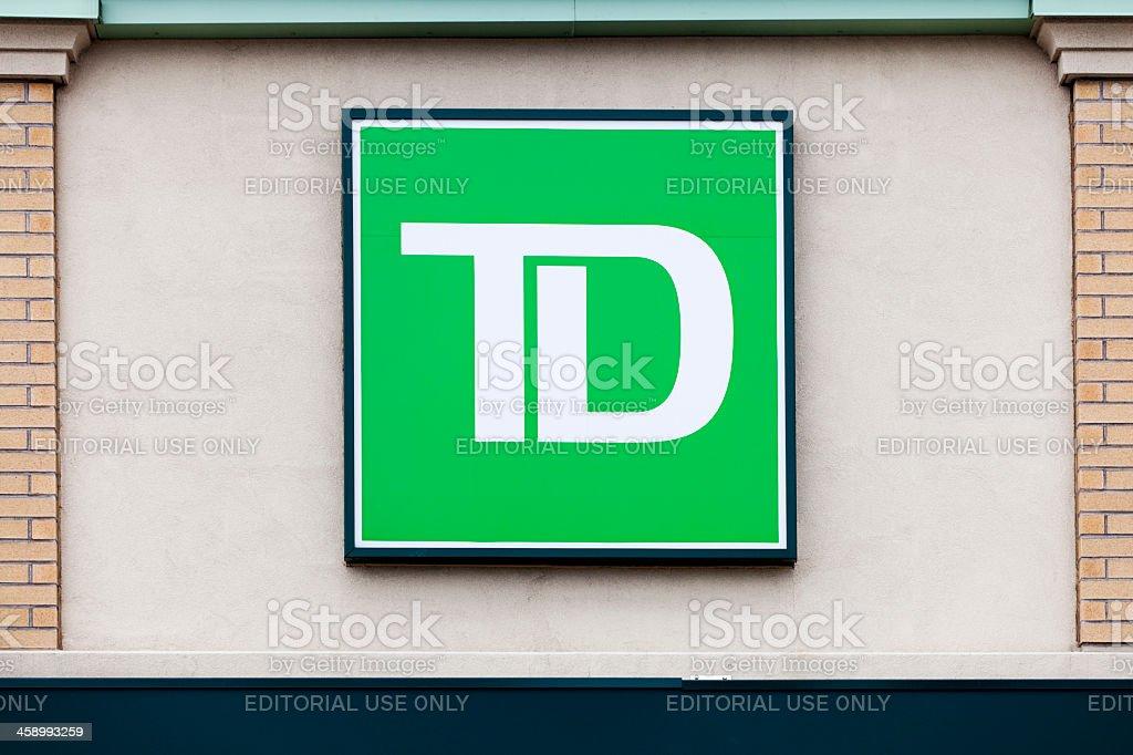 TD Bank Logo stock photo