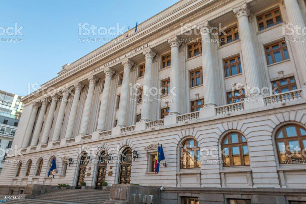 Bank National Building, Bucharest stock photo