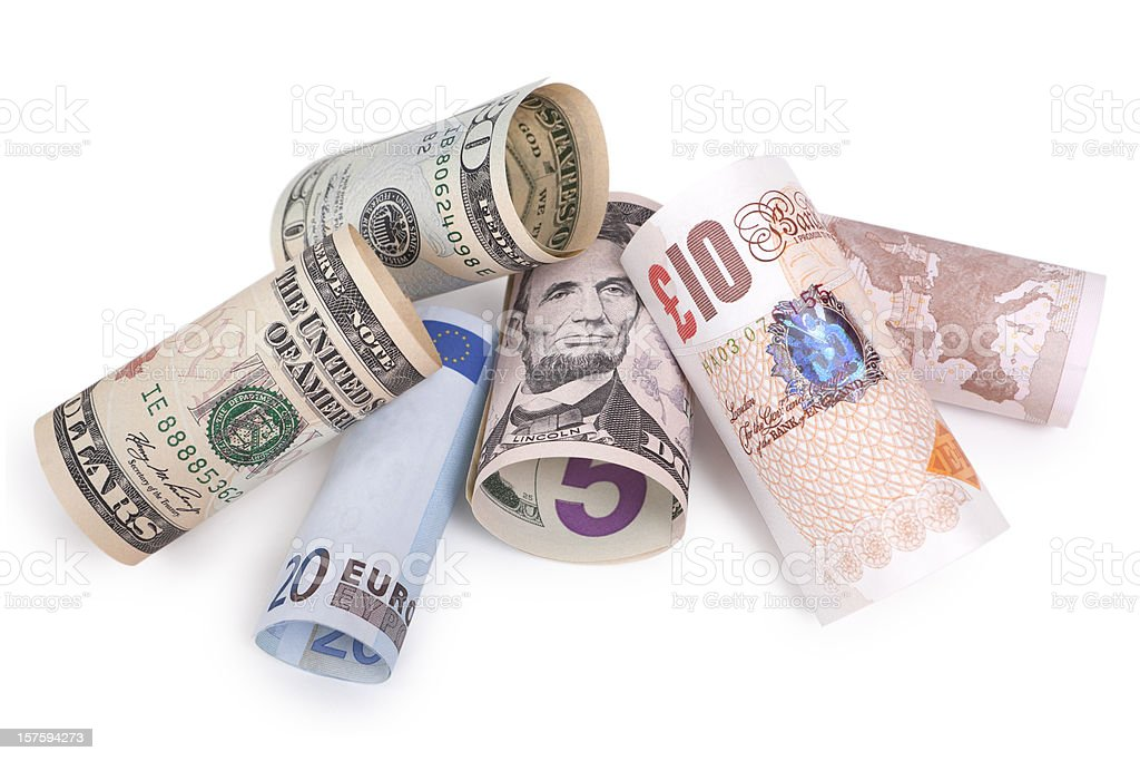 Bank Notes - Rolled Up (XXXL) royalty-free stock photo