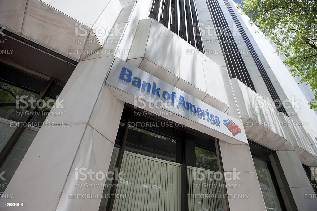 Bank of America branch in Downtown Miami royalty-free stock photo