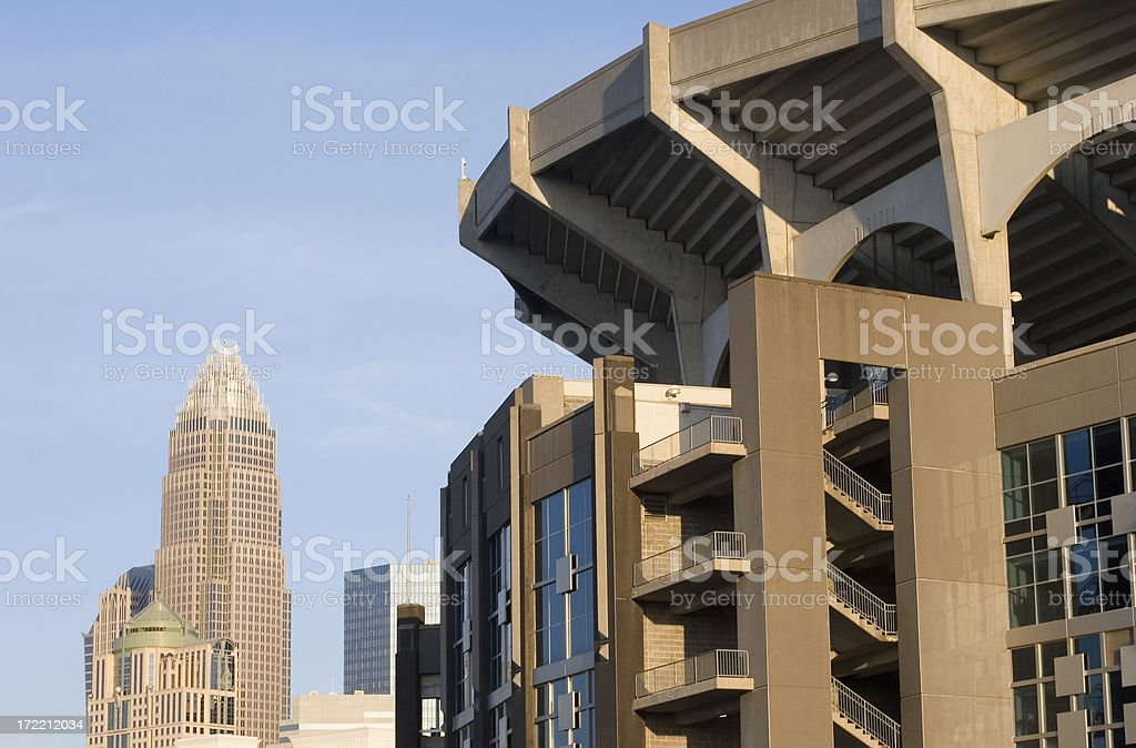 Bank of America Stadium and Tower stock photo