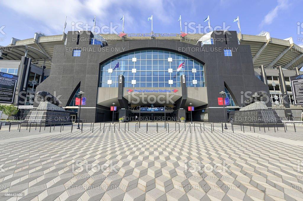 Bank of America Stadium Blue Skies 3 stock photo