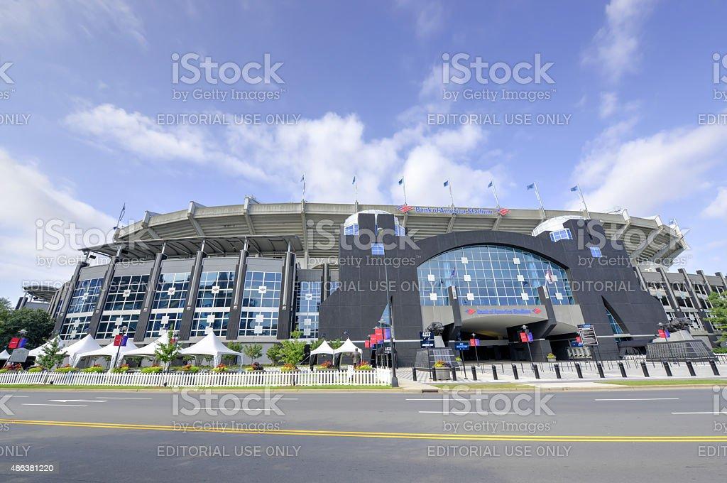 Bank of America Stadium Blue Skies stock photo