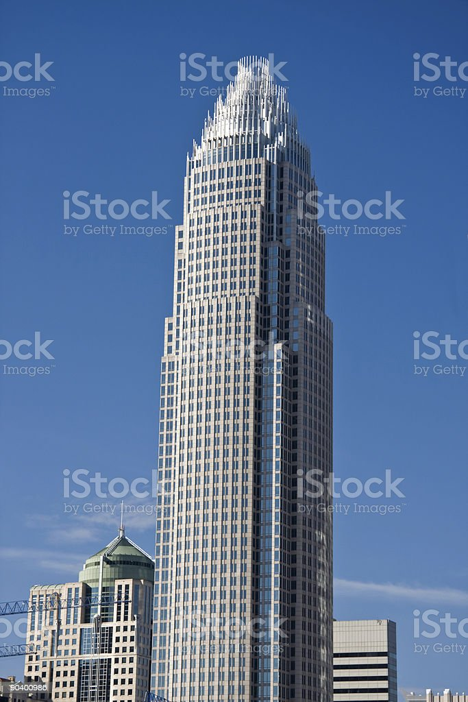 Bank of America Tower in Charlotte royalty-free stock photo