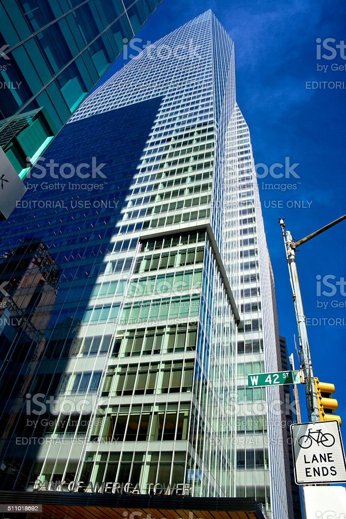Bank Of America Tower, Midtown Manhattan, New York City, USA stock photo