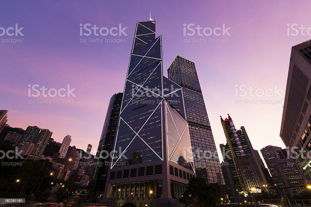Bank of China Hong Kong stock photo